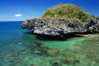 another view of a rocky outcrop near Quezon Island, Hundred Islands National Park
