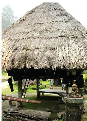 a native hut in Hiwang, Banaue