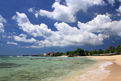 blue sky and clouds over Patar Beach, Bolinao