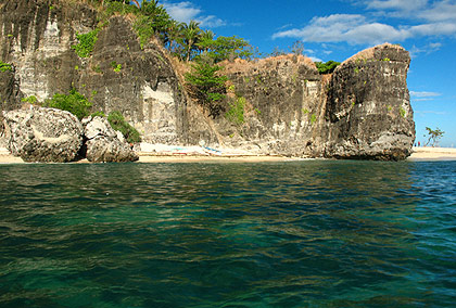 view of Camara Island from boat, San Antonio, Zambales