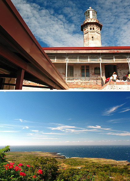 Cape Bojeador Lighthouse and view of the coast from the lighthouse, Burgos, Ilocos Norte