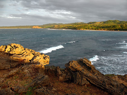 view of coast from a cliff at Hidden Treasure Resort, Pagudpud, Ilocos Norte