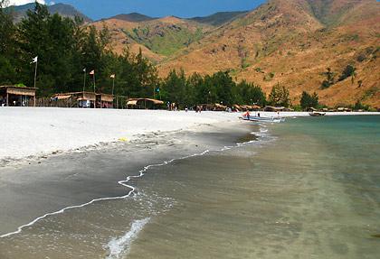 sandy beach with huts, Nagsasa Cove