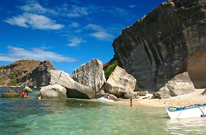 huge rocks on beach, Capones Island, San Antonio, Zambales