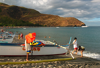 boats docked early morning on Pundaquit, San Antonio, Zambales