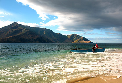 view of Zambales mainland from Camara Island