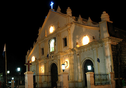 night shot of St. Paul's Cathedral in Vigan, Ilocos Sur